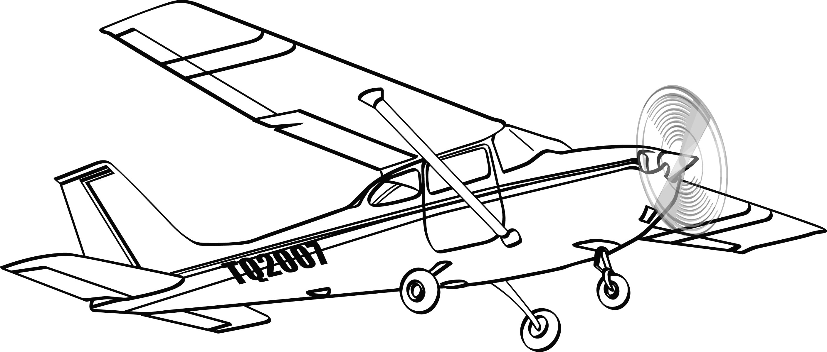 Biplane clipart drawing.  collection of cessna