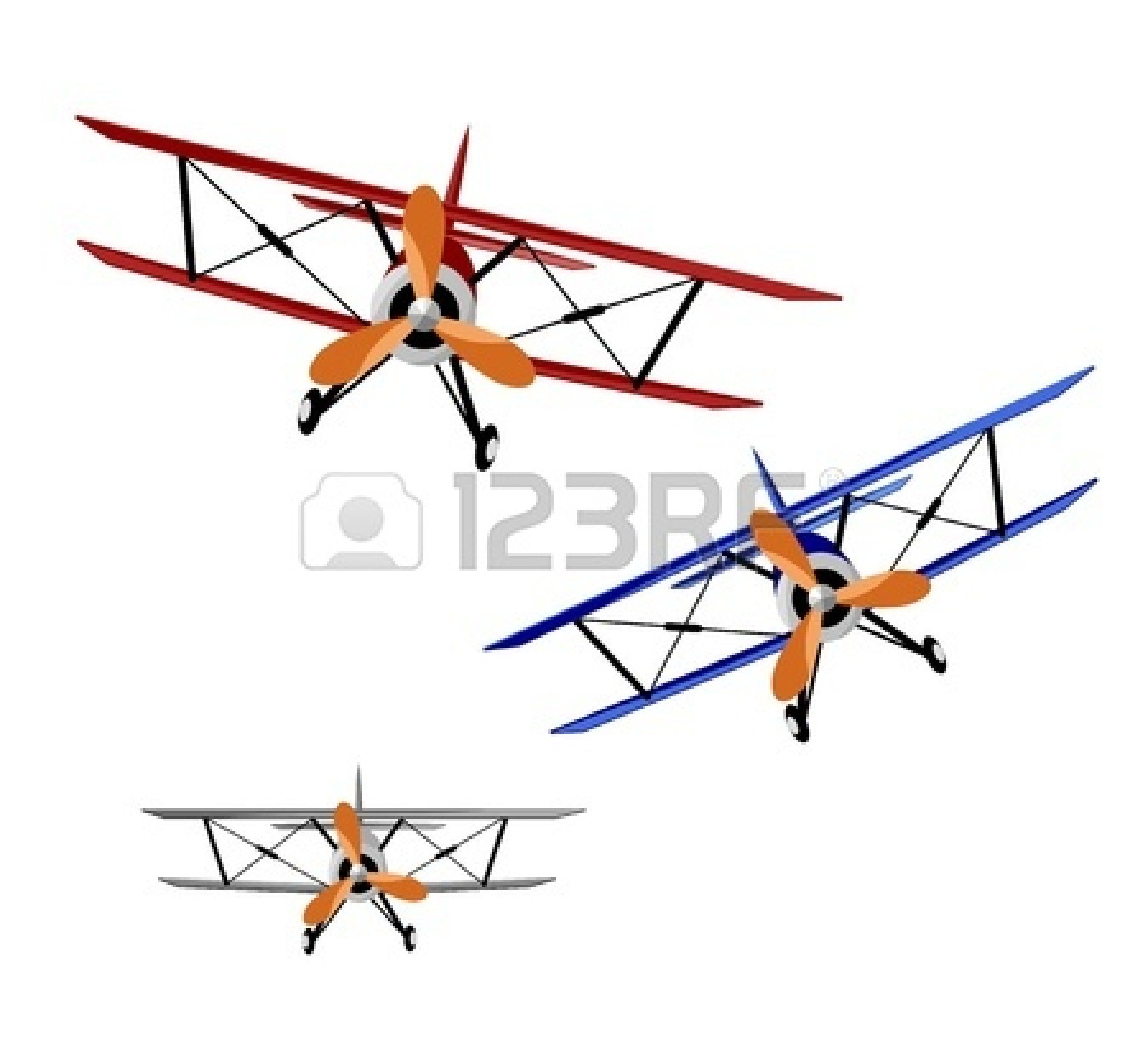 collection of free. Biplane clipart front