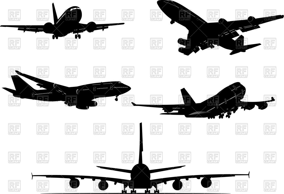 Aircraft view . Biplane clipart front