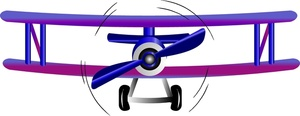 Biplane clipart front. Free image airplane cartoon