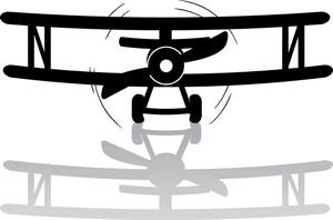 Free plane image car. Biplane clipart illustration