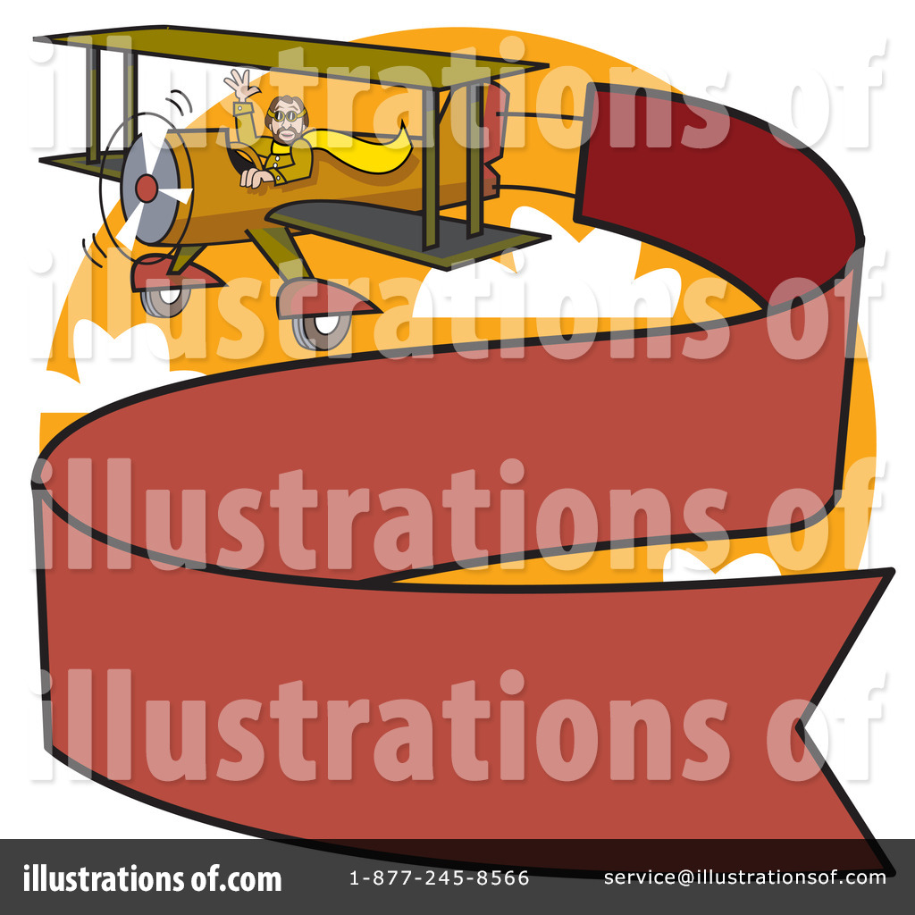 Biplane clipart illustration. By andy nortnik royaltyfree