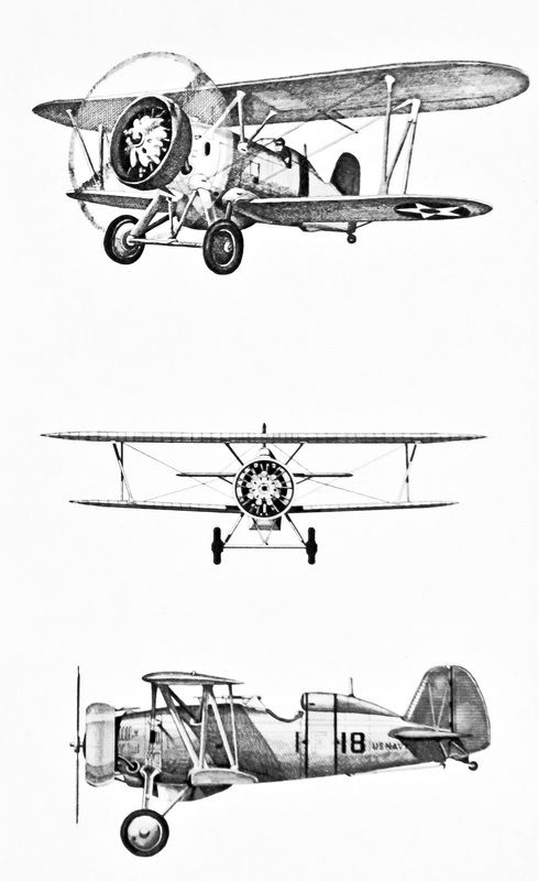 Vintage drawing of a. Biplane clipart line