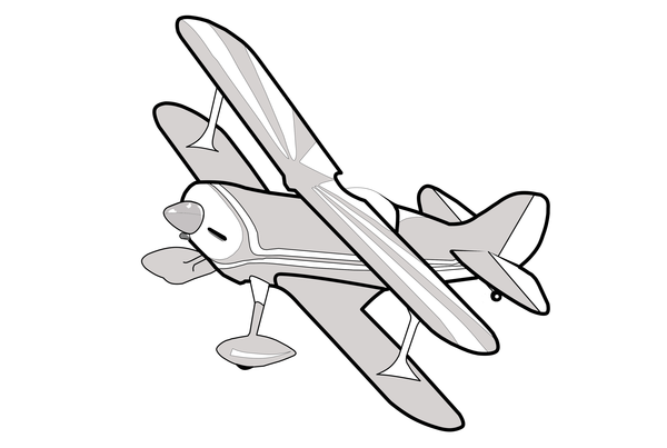 Biplane clipart line. Grey free images at