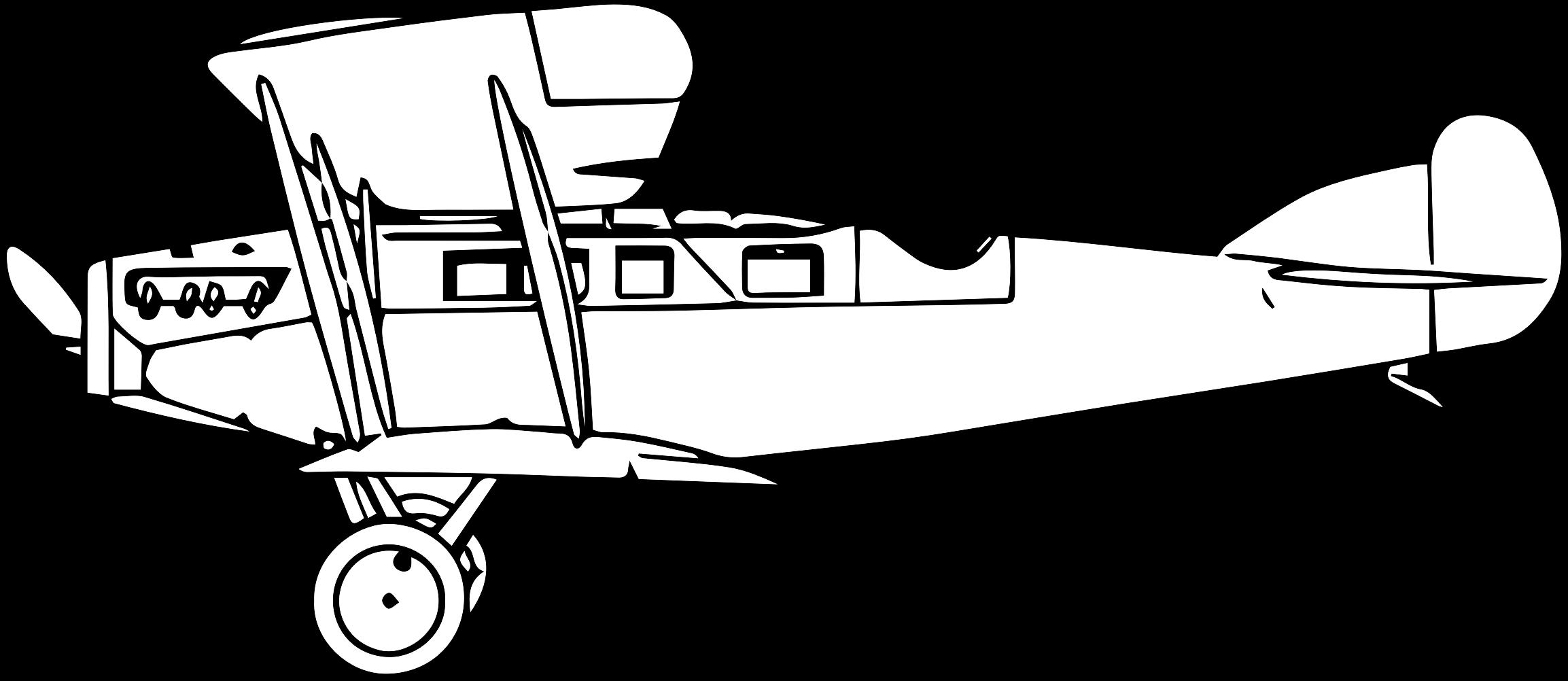 Martinsyde a mark ii. Biplane clipart line