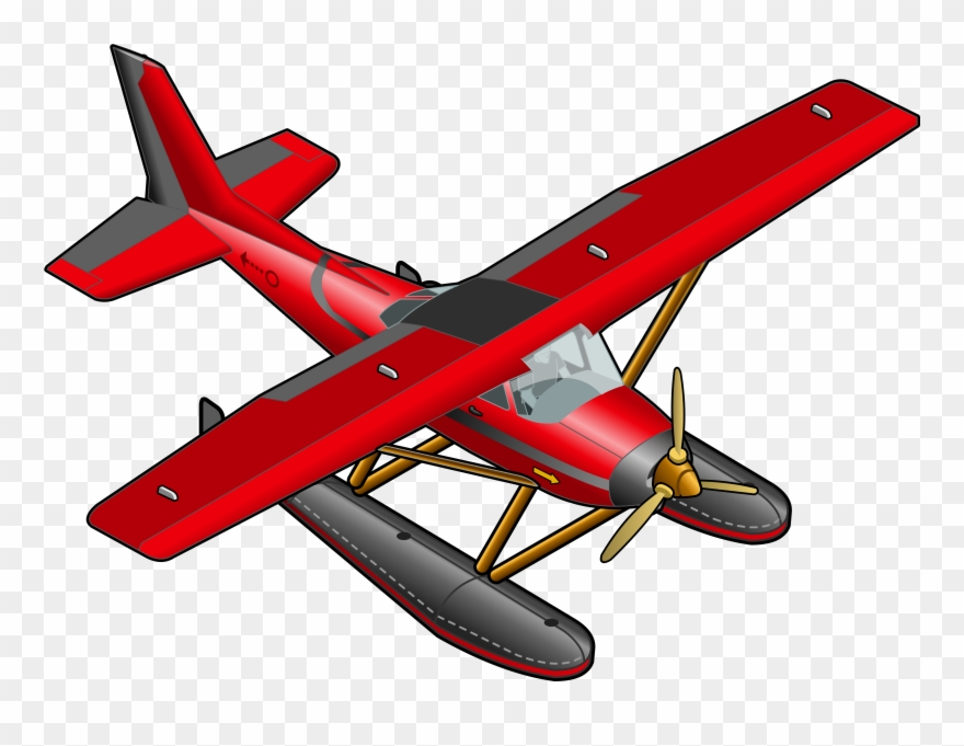 Red plane transparent png. Biplane clipart logo