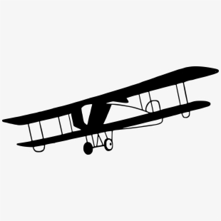 Aircraft antique plane clip. Biplane clipart old airplane