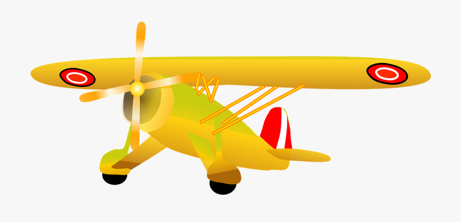 biplane clipart old airplane