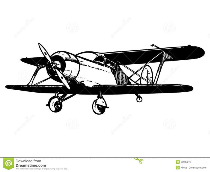Biplane clipart old fashioned.  best trains planes