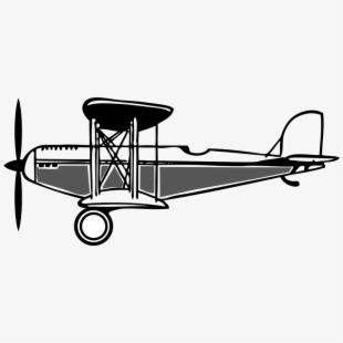 Biplane clipart outline. Black and white wright