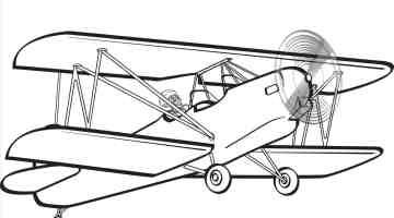 Creative rhpinterestcom coloring page. Biplane clipart outline