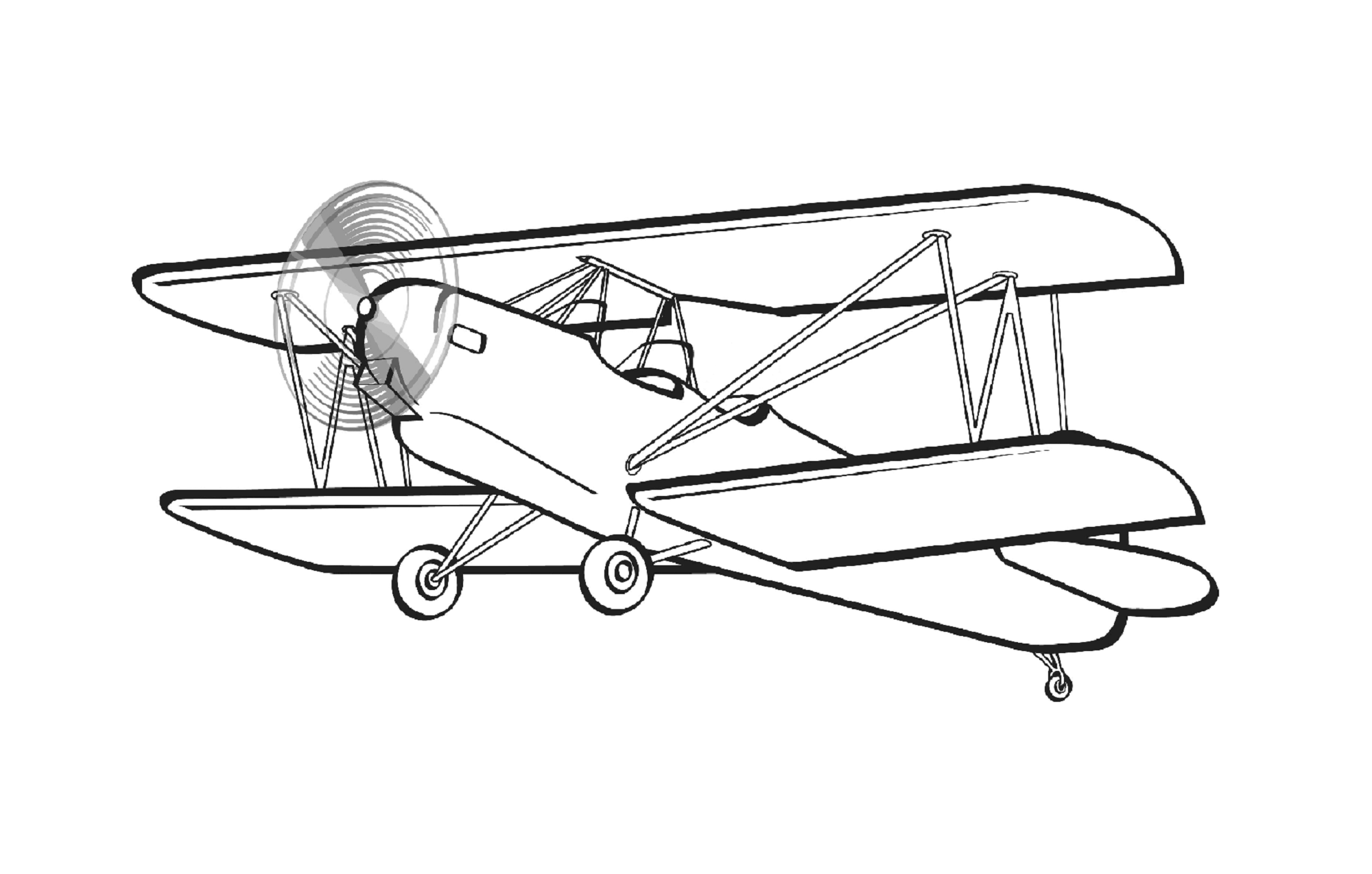 Biplane clipart outline. In tgm sports
