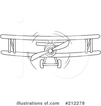 Biplane clipart outline. Illustration by pams royaltyfree