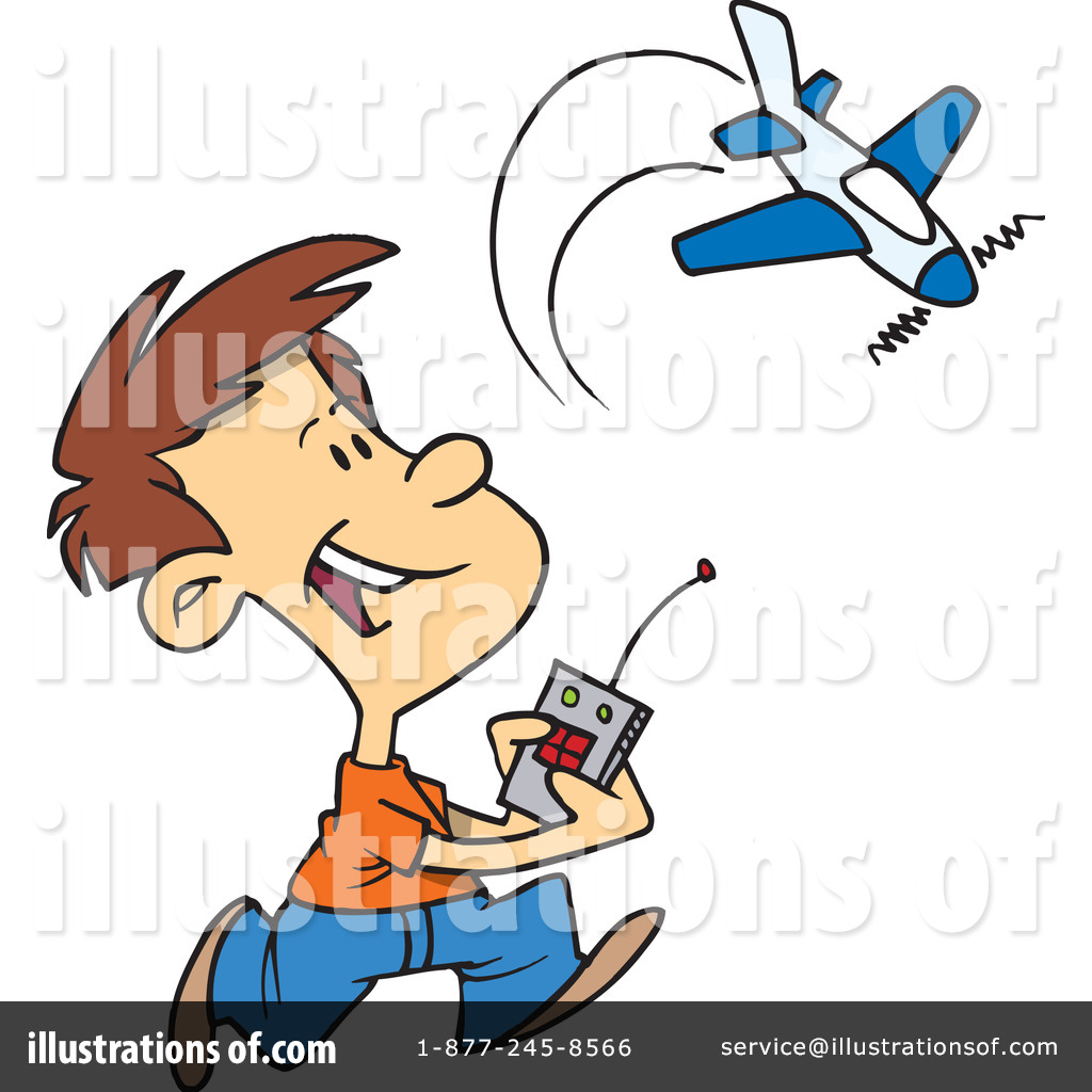 Plane illustration by toonaday. Biplane clipart rc airplane