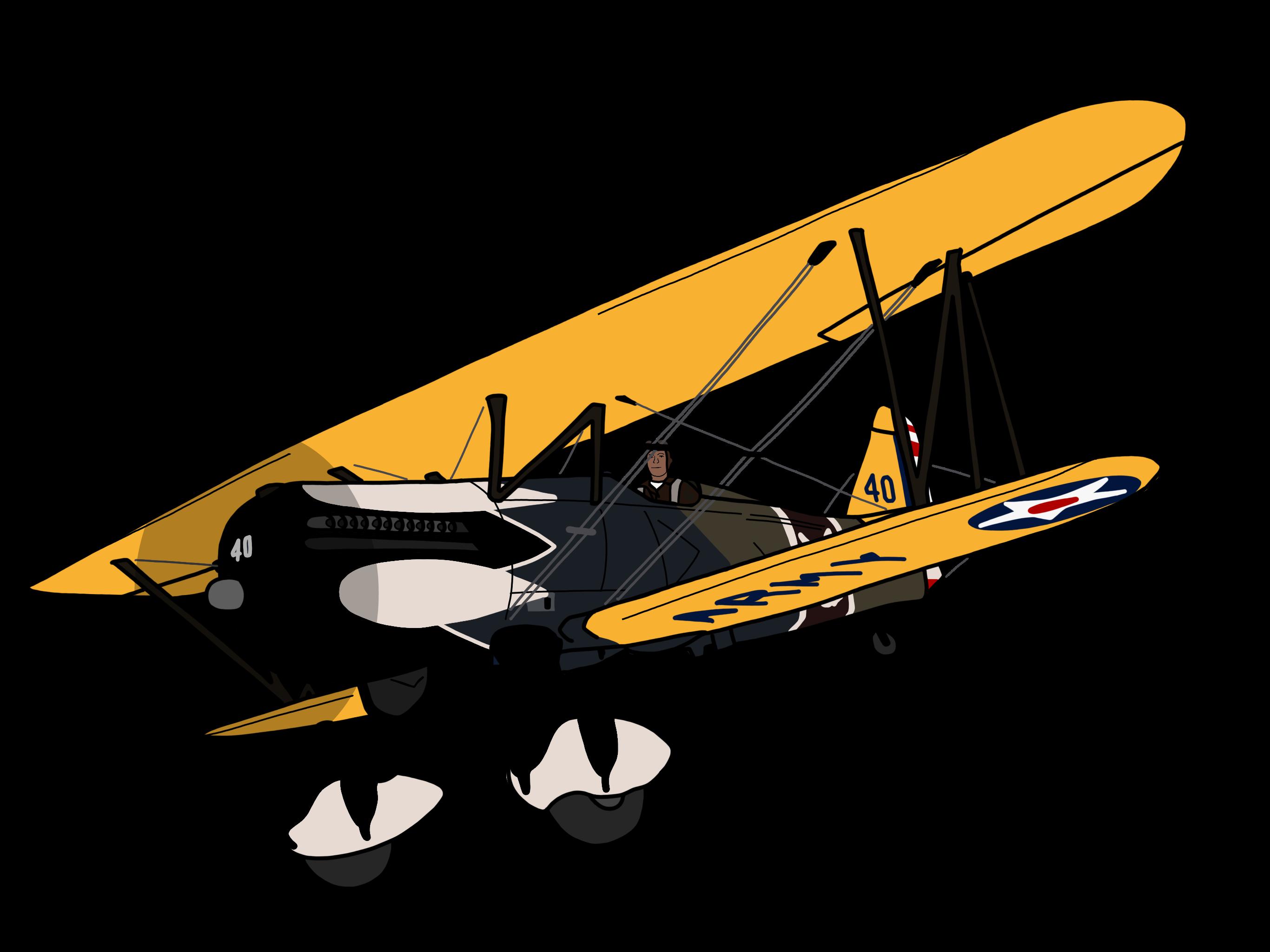 Pilot clipart pilot plane. Curtiss p e hawk