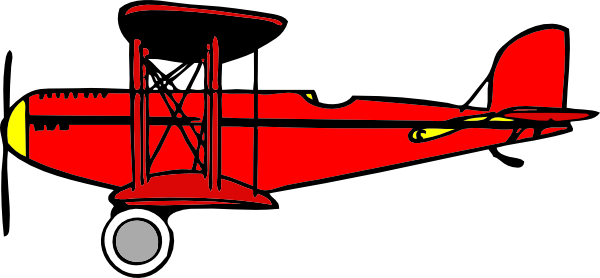 Clip art at clker. Biplane clipart red