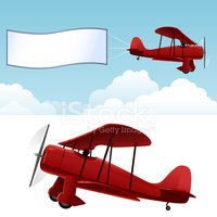 biplane clipart red