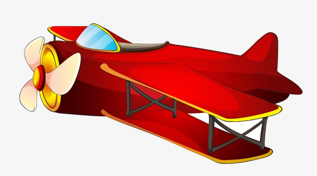 Plane fighter aircraft flight. Biplane clipart red