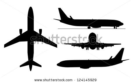 Private jet silhouette at. Biplane clipart side view