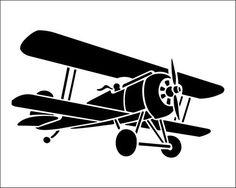 Biplane clipart silhouette. I think m in