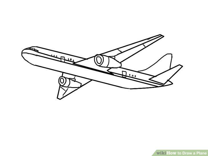 Biplane clipart sketch.  ways to draw