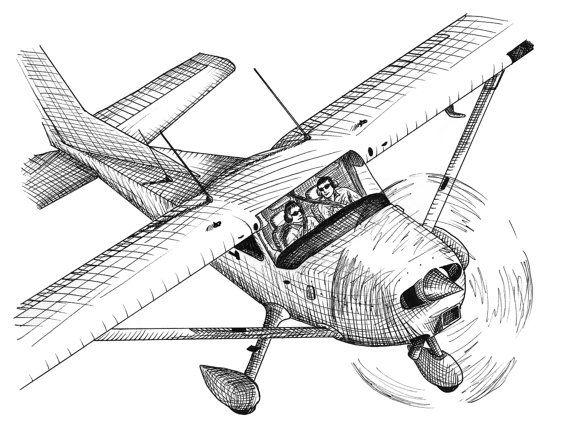 Biplane clipart sketch. Business meeting aviation airplane