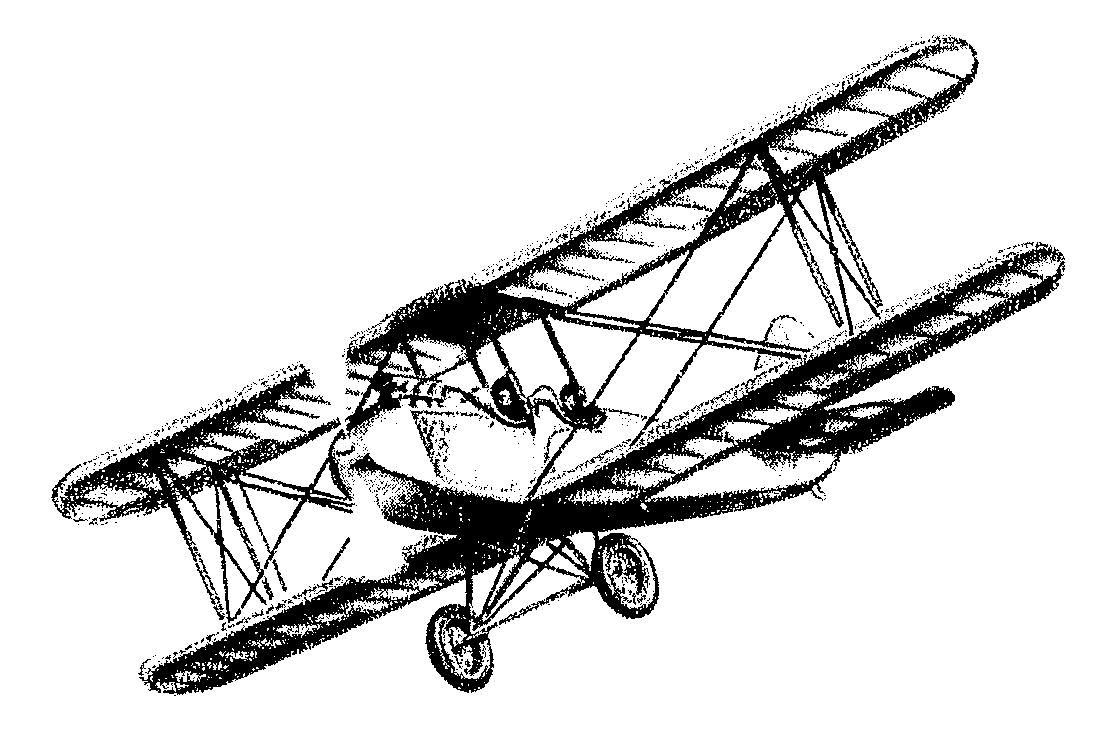 Backgrounds for cards aircraft. Biplane clipart sketch
