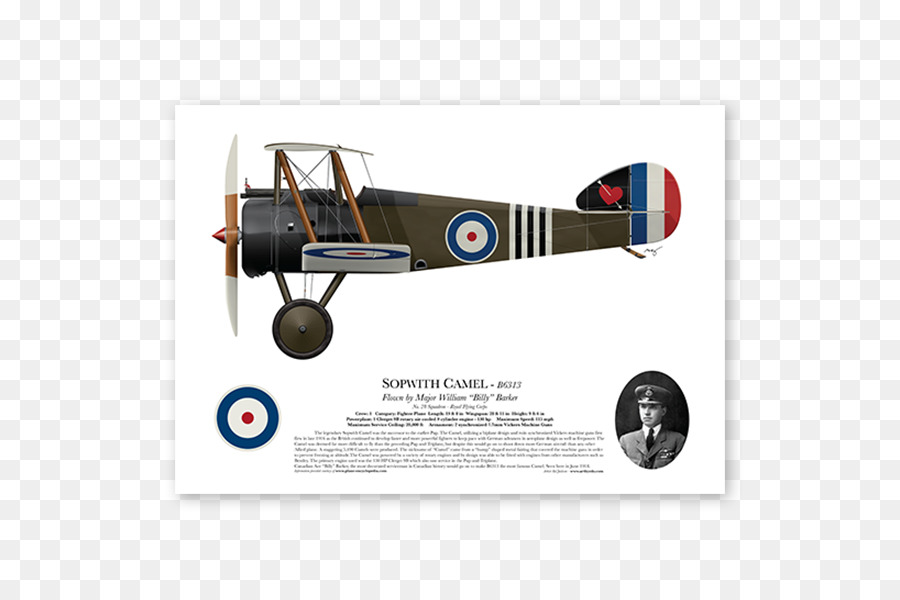 Biplane clipart sopwith camel. Airplane wing transparent clip