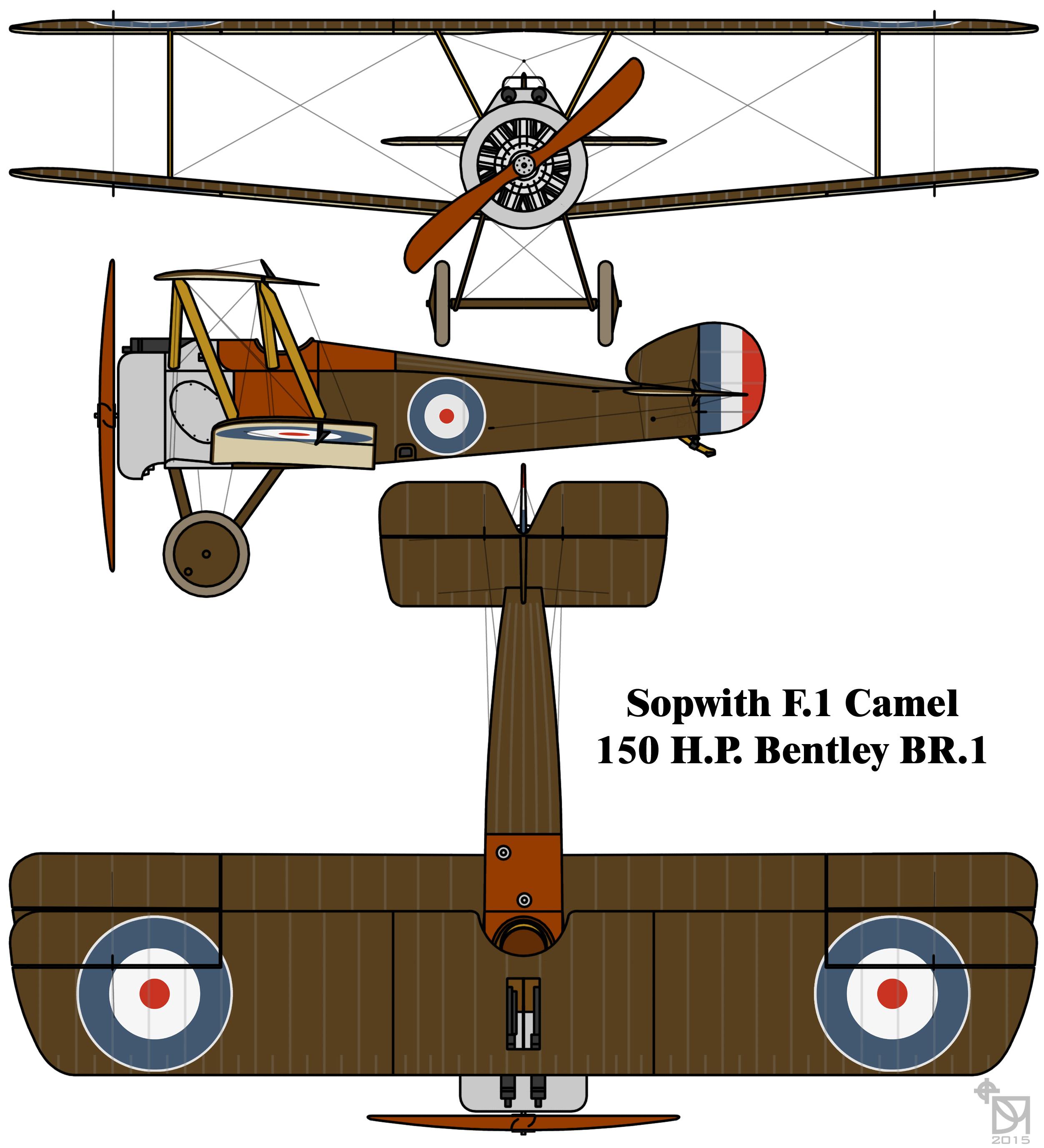 Biplane clipart sopwith camel. File f drawing jpg