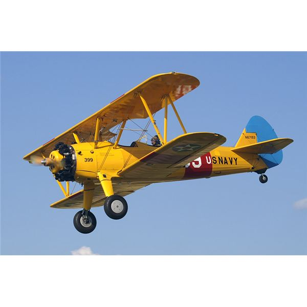 Biplane clipart stearman. History of the one
