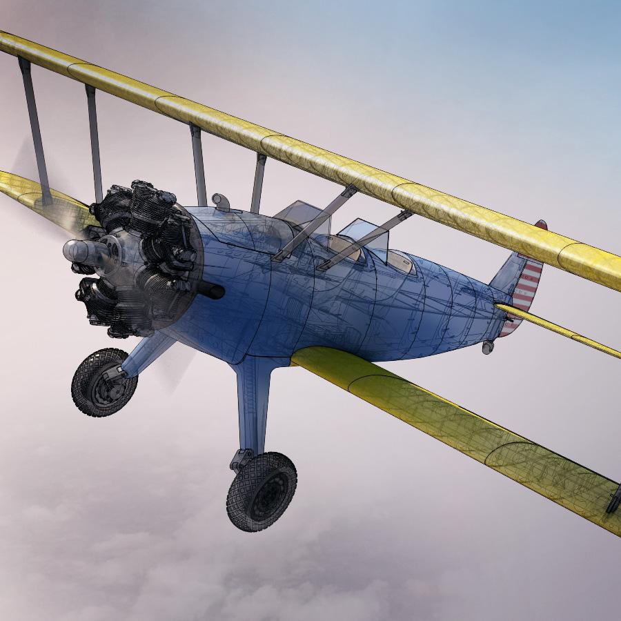 Biplane clipart stearman. Pt kaydet dlabprint