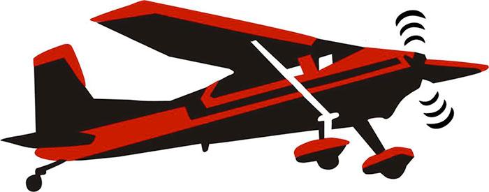 Cessna plane transport design. Biplane clipart stencil