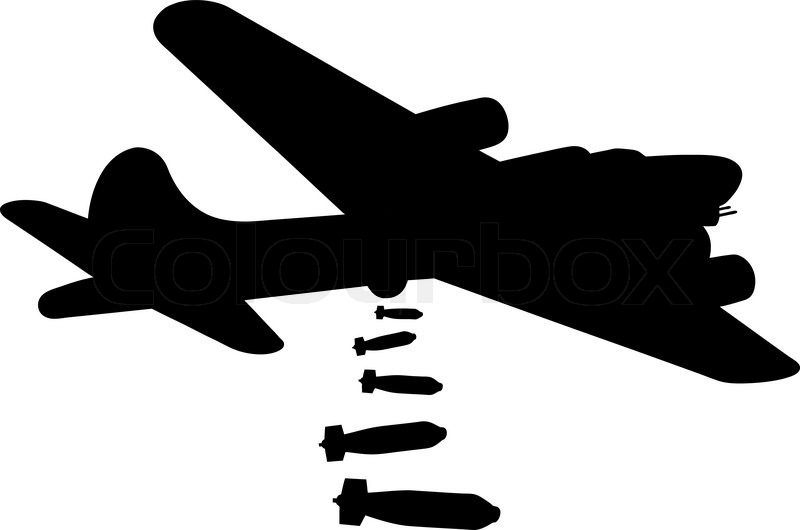 Gallery for airplane bomber. Biplane clipart stencil