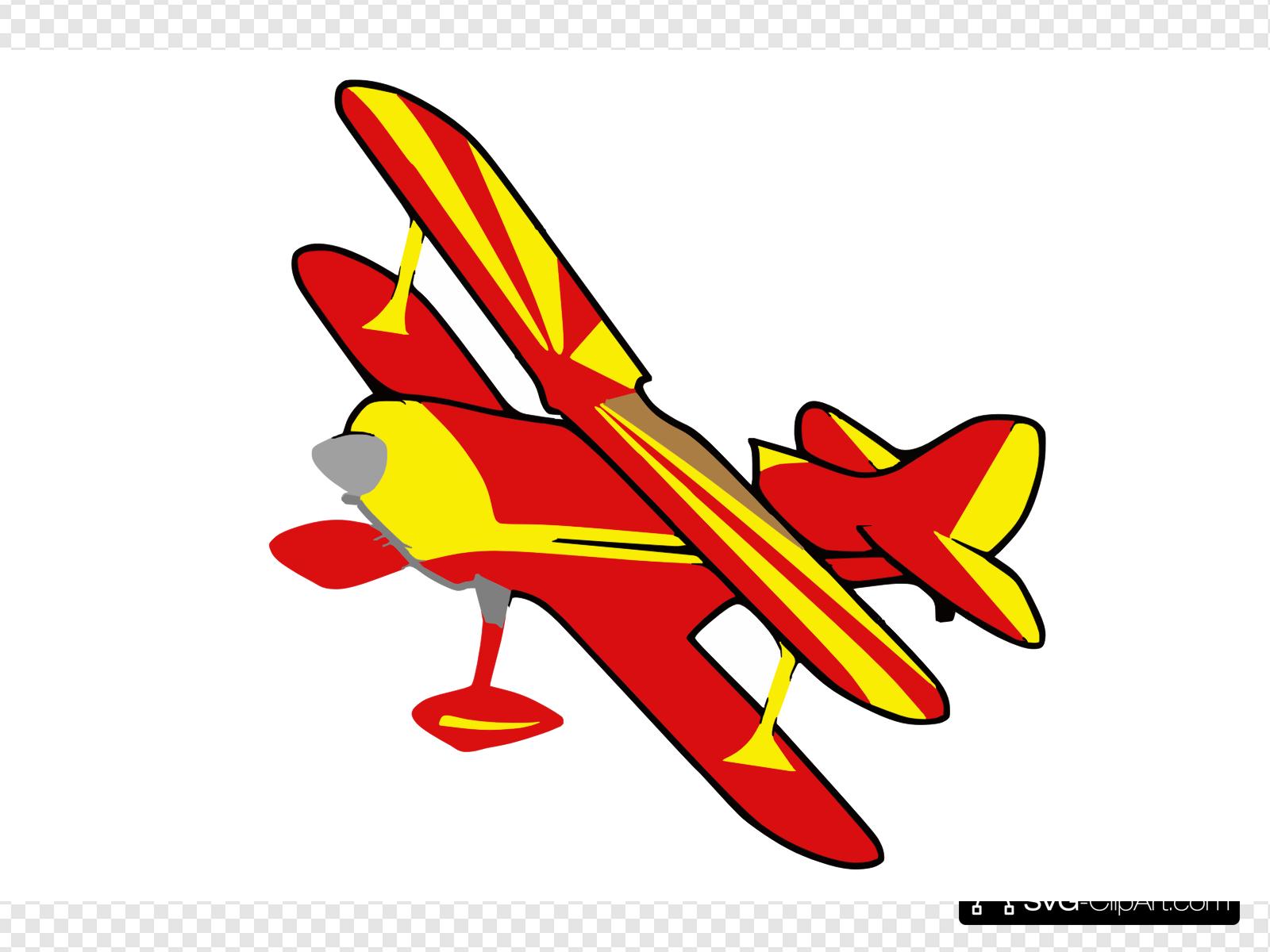 Biplane clipart svg. Red clip art icon