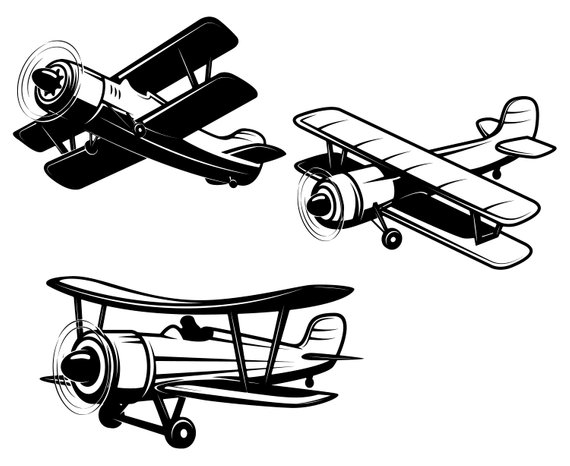 Silhouette at getdrawings com. Biplane clipart svg