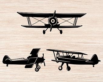 Biplane clipart svg. Airplane etsy