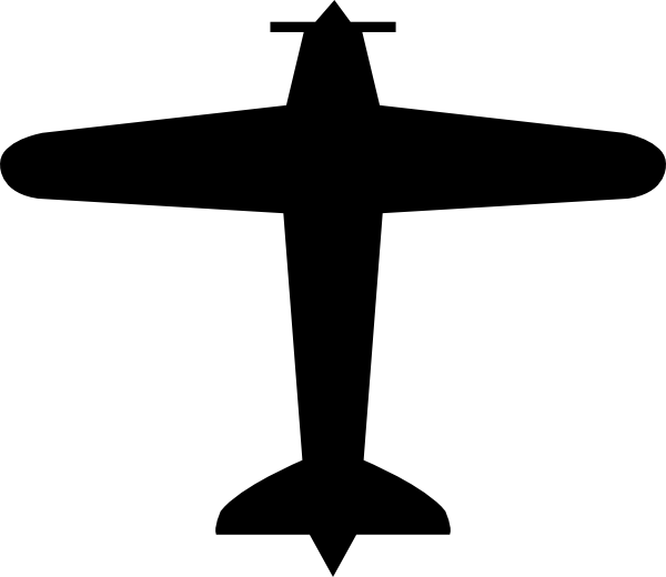 Small plane silhouette at. Dot clipart airplane