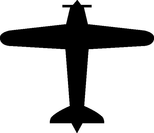 Small plane silhouette at. Biplane clipart symbol