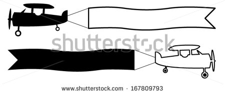 Biplane clipart symbol.  collection of with