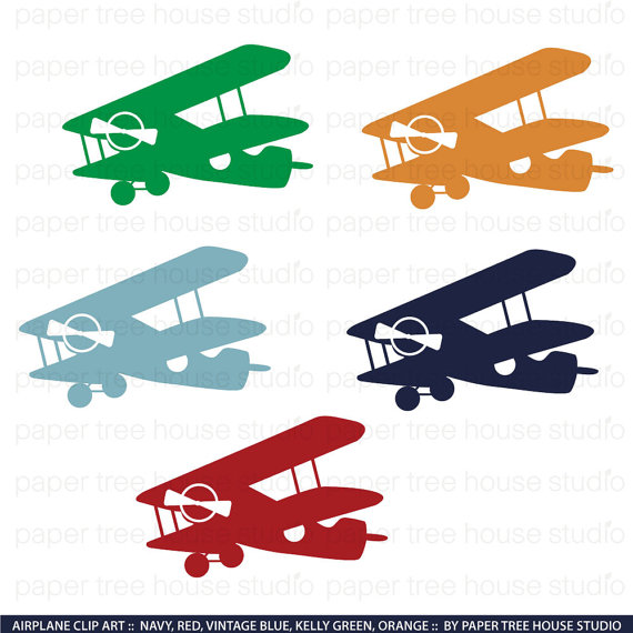 Airplane clip art png. Biplane clipart vintage