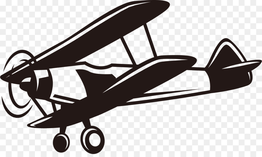 Airplane first fixed wing. Biplane clipart world war