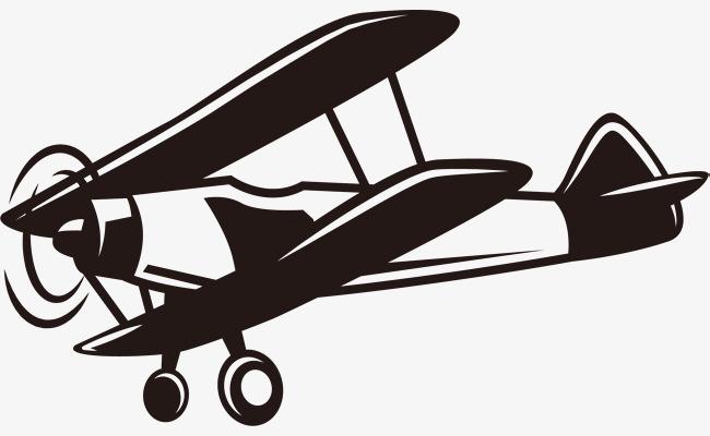 Vintage retro aviation ii. Biplane clipart world war