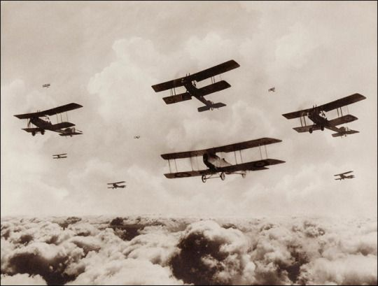 Biplane clipart world war. A flight of bombing