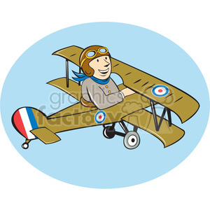 One british pilot royalty. Biplane clipart world war