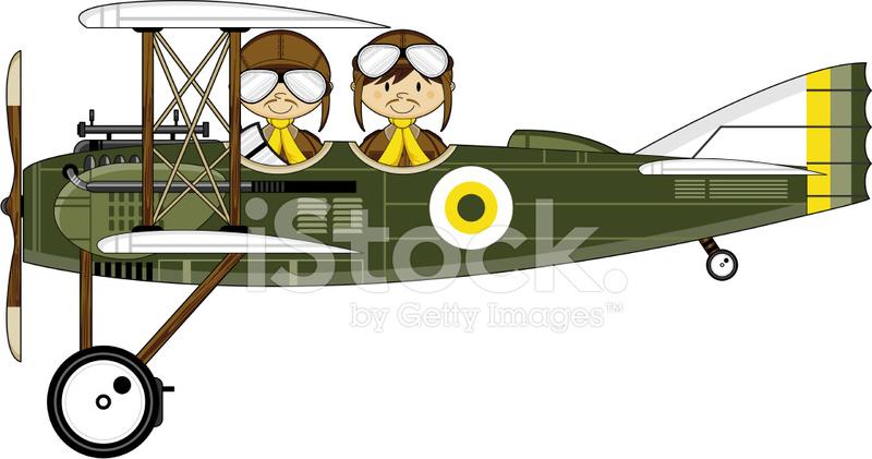 Ww style military pilots. Biplane clipart ww1 plane