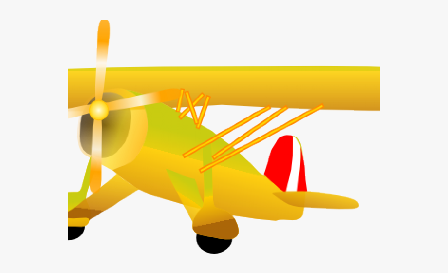 Biplane clipart yellow. Aviation airplane clip art