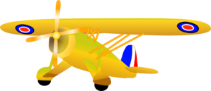 Propel plane clip art. Biplane clipart yellow