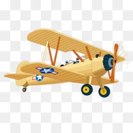 Biplane yellow