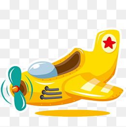 Biplane clipart yellow. Aircraft cartoon png vectors