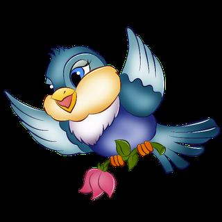 Bird clipart animated. Cute birds page cartoon